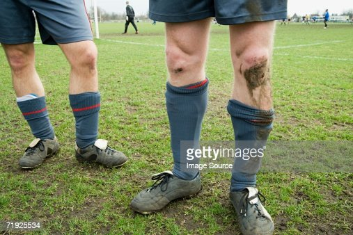 Legs of footballers