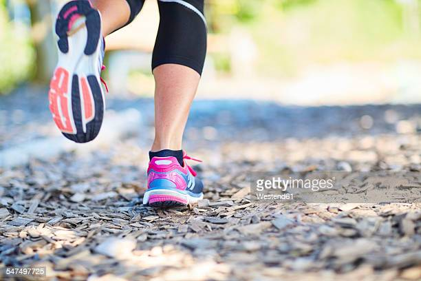Legs of jogging woman