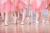 Legs of little ballerinas - balet background