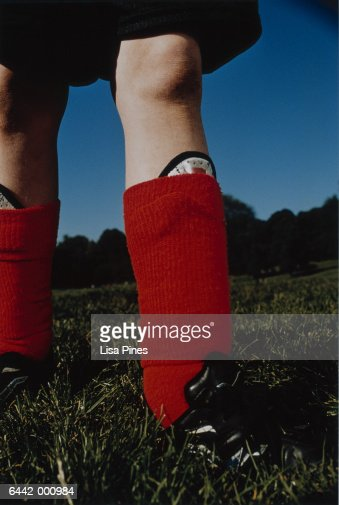 Legs of Soccer Player : Stock Photo