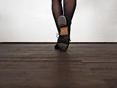 Legs of step dancing woman
