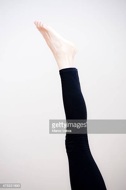 Legs upward and barefeet
