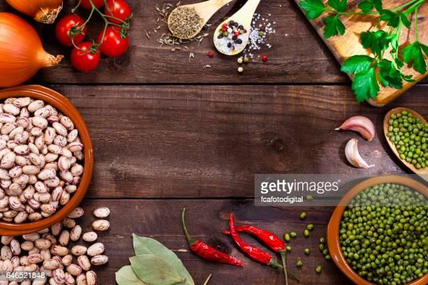 マメ科植物と食材の境界線