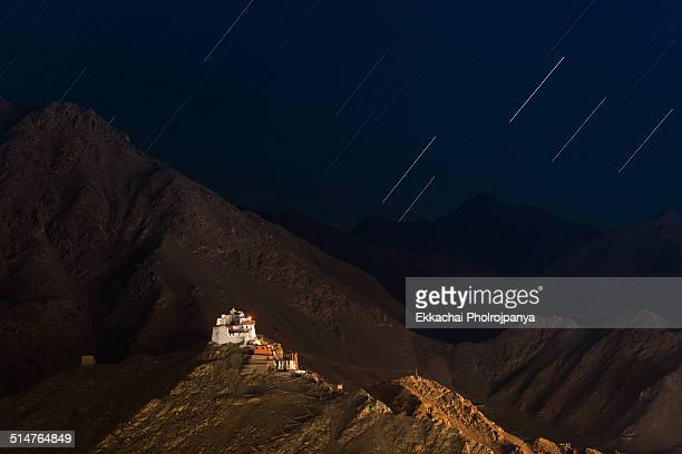Leh Palace with Star Trail