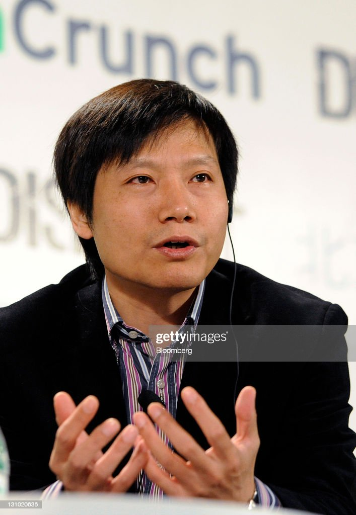 Lei Jun, co-founder of Xiaomi Technology Co., speaks during the TechCrunch Disrupt Beijing conference in Beijing, China, on Tuesday, Nov. 1, 2011. Xiaomi Technology Co. aims to attract users to its first smartphone by pricing the handset at less than half that for Apple Inc.'s iPhone 4 and plans to make money through software for the device. Photographer: Keith Bedford/Bloomberg via Getty Images