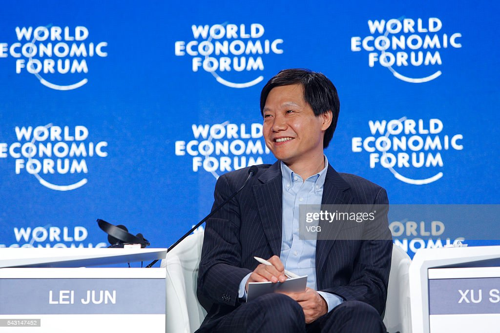 Lei Jun, founder and CEO of Chinese smartphone manufacturer Xiaomi, attends the Summer Davos, also known as the tenth Annual Meeting of the New Champions of the World Economic Forum on June 26, 2016 in Tianjin, China. With the theme of 'The Fourth Industrial Revolution and Its Transformational Impact', it is expected more than 1,500 participants from political, commercial, academic and cultural circles from 90 countries will take part in the event.