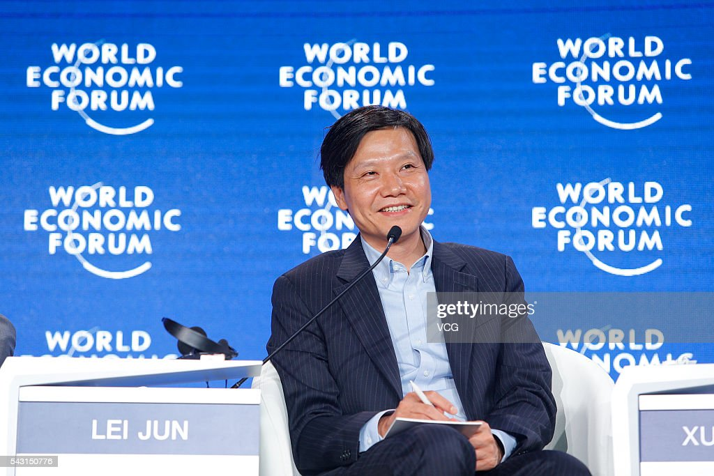 <a gi-track='captionPersonalityLinkClicked' href=/galleries/search?phrase=Lei+Jun&family=editorial&specificpeople=7334031 ng-click='$event.stopPropagation()'>Lei Jun</a>, founder and CEO of Chinese smartphone manufacturer Xiaomi, attends the Summer Davos, also known as the tenth Annual Meeting of the New Champions of the World Economic Forum on June 26, 2016 in Tianjin, China. With the theme of 'The Fourth Industrial Revolution and Its Transformational Impact', it is expected more than 1,500 participants from political, commercial, academic and cultural circles from 90 countries will take part in the event.