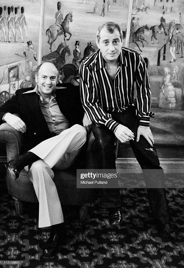 Leiber and Stoller, portrait, New York, 30th January 1975, L-R <a gi-track='captionPersonalityLinkClicked' href=/galleries/search?phrase=Mike+Stoller&family=editorial&specificpeople=790491 ng-click='$event.stopPropagation()'>Mike Stoller</a>, <a gi-track='captionPersonalityLinkClicked' href=/galleries/search?phrase=Jerry+Leiber&family=editorial&specificpeople=790490 ng-click='$event.stopPropagation()'>Jerry Leiber</a>.
