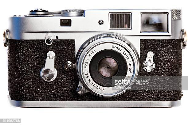 Leica classic M2 vintage  film camera circa 1962front view
