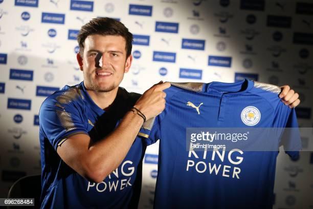 Leicester City Announce Signing of Harry Maguire at Belvoir Drive Training Complex on May 14 2017 in Leicester United Kingdom