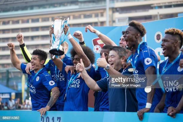 Leicester City are the winners of the Main Tournament Cup Final during the HKFC Citi Soccer Sevens 2017 on 28 May 2017 at the Hong Kong Football Club...