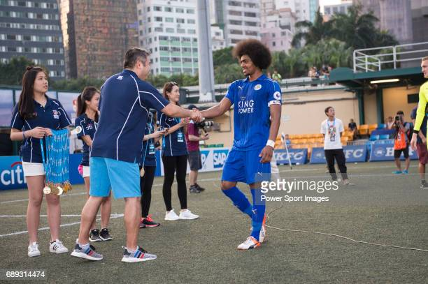 Leicester City are the winners of the Main Tournament Cup Final while Aston Villa are the runnerups during the HKFC Citi Soccer Sevens 2017 on 28 May...