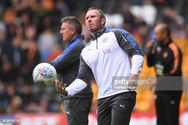 Leicester City assistant manager Michael Appleton looks on during the preseason friendly match between Wolverhampton Wanderers and Leicester City at...