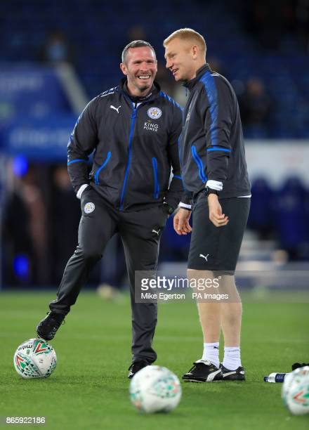 Leicester City Caretaker Manager Michael Appleton during the Carabao Cup Fourth Round match at the King Power Stadium Leicester