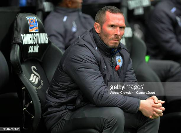 Leicester City Caretaker Manager Michael Appleton during the Premier League match between Swansea City and Leicester City at Liberty Stadium on...