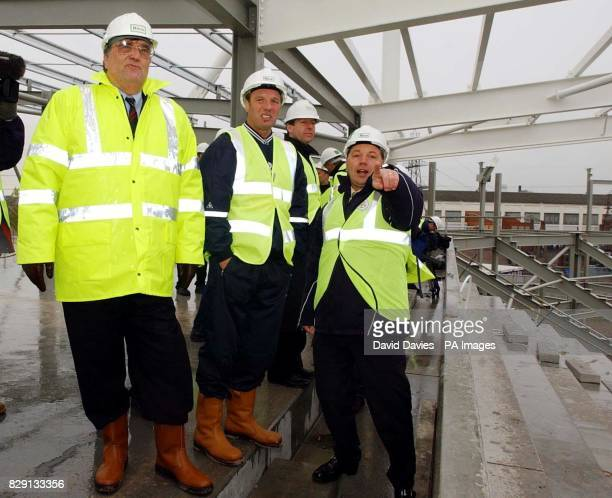Leicester City Chairman John Elsom points out faetures of the club's new stadium at Freeman's Wharf to manager Dave Bassett for the first time...
