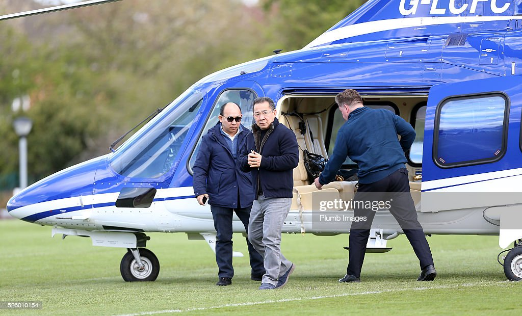 Leicester City Chairman Vichai Srivaddhanaprabha during the Leicester City training session at Belvoir Drive Training Complex on April 29th , 2016 in Leicester, United Kingdom.
