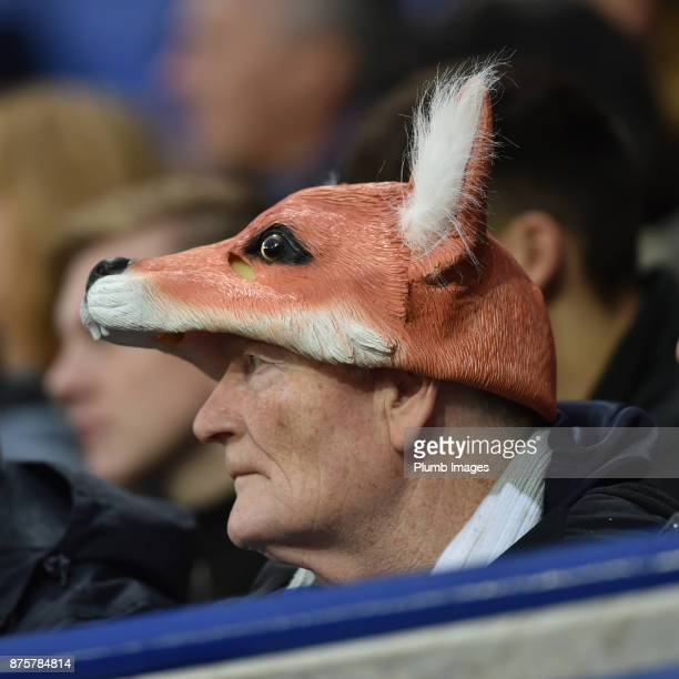 Leicester City fan enthralled during the Premier League match between Leicester City and Manchester City at The King Power Stadium on November 18th...