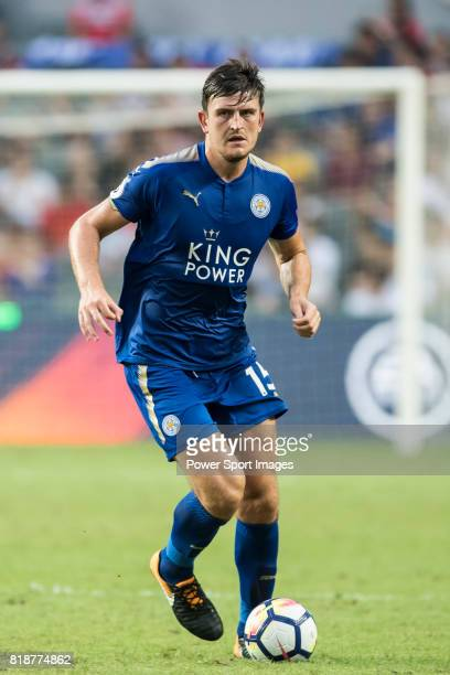 Leicester City FC defender Harry Maguire in action during the Premier League Asia Trophy match between Leicester City FC and West Bromwich Albion at...