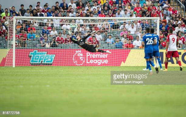 Leicester City FC goalkeeper Ben Hamer in action during the Premier League Asia Trophy match between Leicester City FC and West Bromwich Albion at...