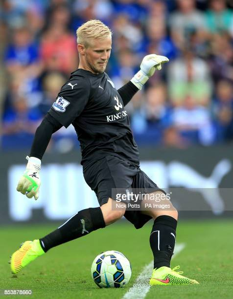 Leicester City goalkeeper Kasper Schmeichel during the Barclays Premier League match at the King Power Stadium Leicester