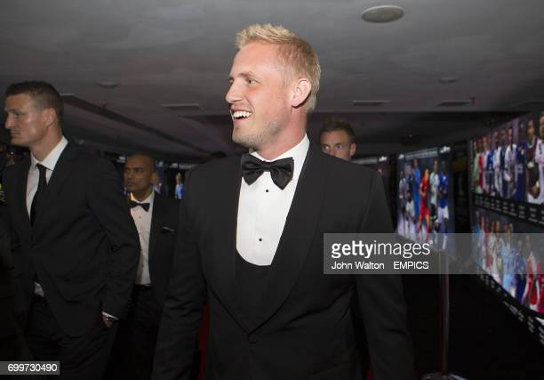 Leicester City goalkeeper Kasper Schmeichel during the PFA Awards at the Grosvenor House Hotel London