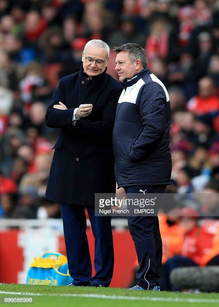 Leicester City manager Claudio Ranieri and assistant Craig Shakespeare