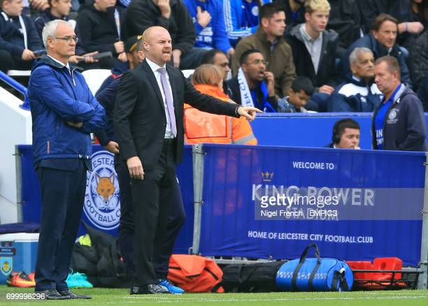 Leicester City manager Claudio Ranieri and Burnley manager Sean Dyche