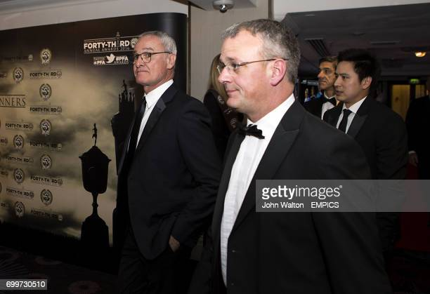 Leicester City manager Claudio Ranieri during the PFA Awards at the Grosvenor House Hotel London