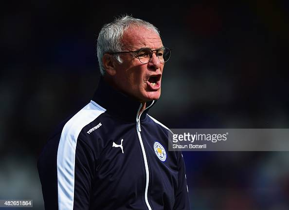 Leicester City manager Claudio Ranieri during the PreSeason Friendly match between Birmingham City and Leicester City at St Andrews on August 1 2015...