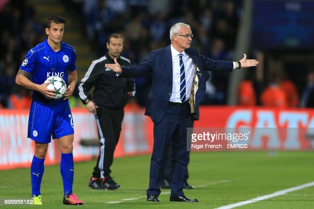 Leicester City manager Claudio Ranieri on the touchline
