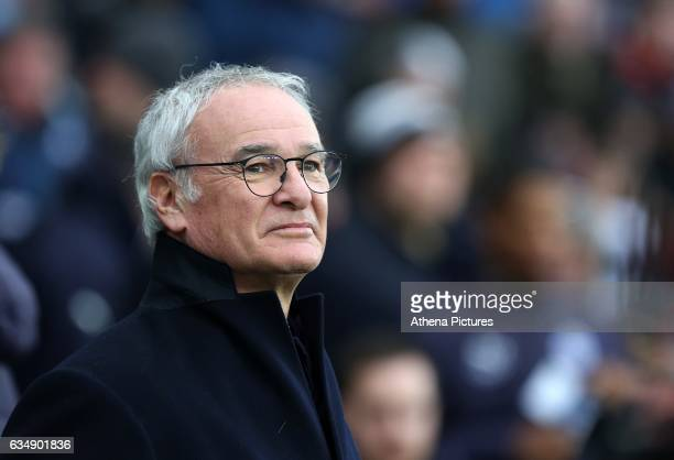 Leicester City manager Claudio Ranieri prior to kick off of the Premier League match between Swansea City and Leicester City at The Liberty Stadium...