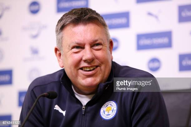 Leicester City manager Craig Shakespeare during the Leicester City press conference at Belvoir Drive Training Complex on April 28 2017 in Leicester...