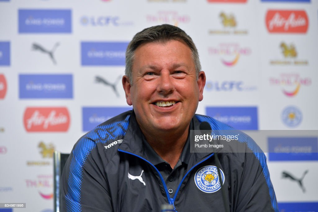 Leicester City manager Craig Shakespeare during the Leicester City press conference at King Power Stadium on August 18, 2017 in Leicester, United Kingdom