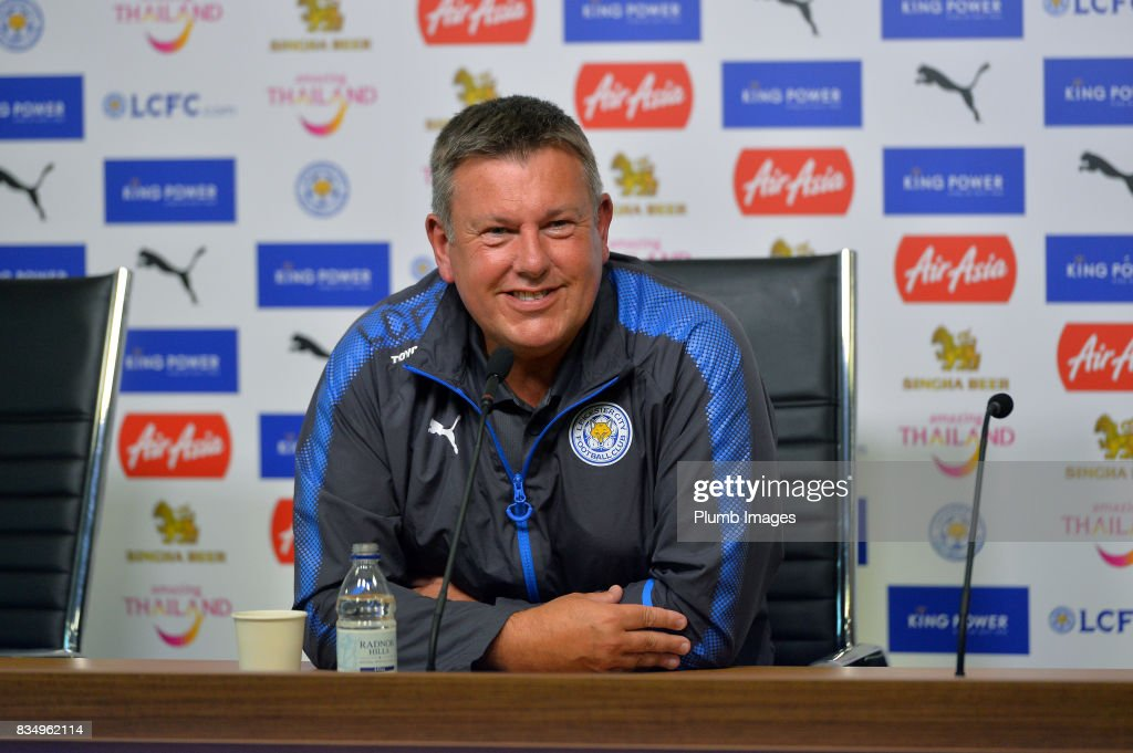 Leicester City training and press conference