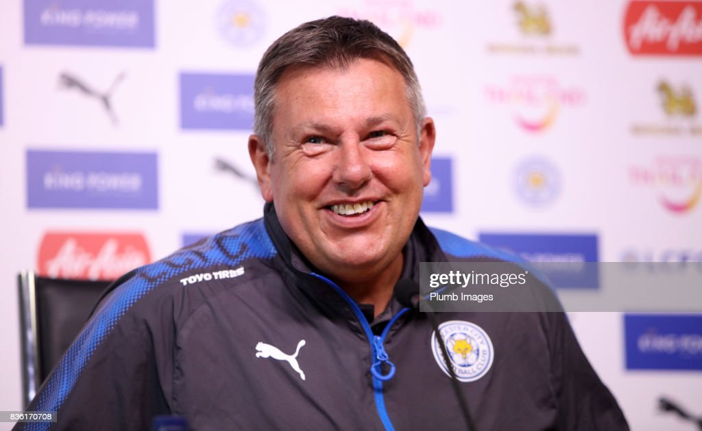 Leicester city manager Craig Shakespeare during the Leicester City press conference at Belvoir Drive Training Complex on August 21 , 2017 in Leicester, United Kingdom.