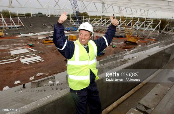 Leicester City manager Dave Bassett views the club's new stadium at Freeman's Wharf for the first time Leicester intend to move to the new ground...