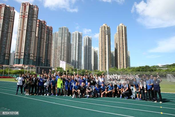 Leicester City train in Hong Kong ahead of the Premier League Asia Trophy final against Liverpool on July 21 2017 in Hong Kong