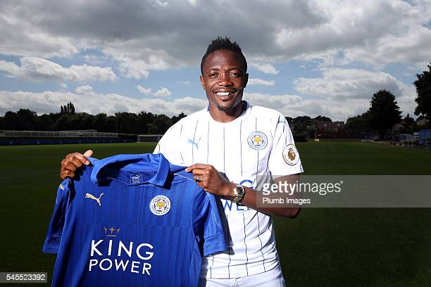 Leicester City unveil new signing Ahmed Musa at Belvoir Drive Training Complex on July 08th 2016 in Leicester United Kingdom