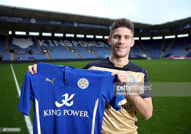 Leicester City unveil new signing Andrej Kramaric at the King Power Stadium on January 16 2015 in Leicester England