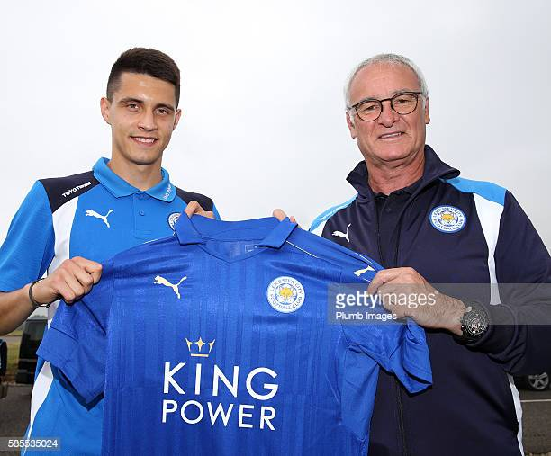Leicester City unveil new signing Bartosz Kapustka pictured with manager Claudio Ranieri as he flies straight out to Stockholm for the ICC tournament...