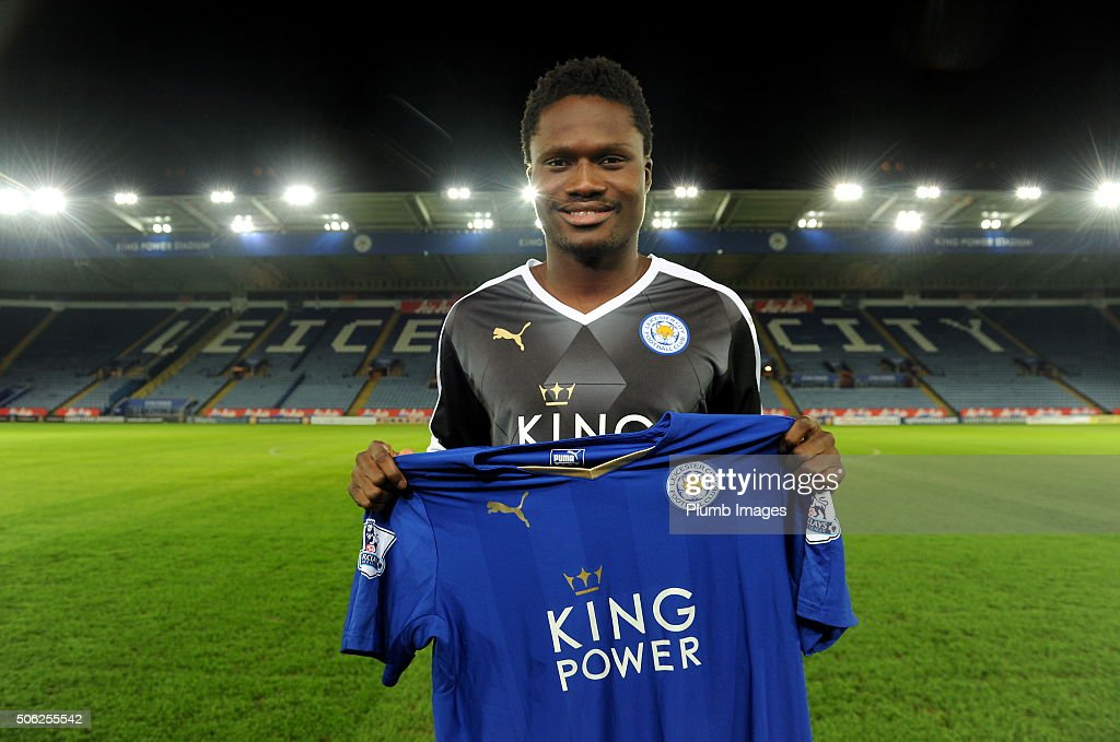 Leicester City unveil New Signing Daniel Amartey at King Power Stadium on January 21, 2016 in Leicester, United Kingdom.