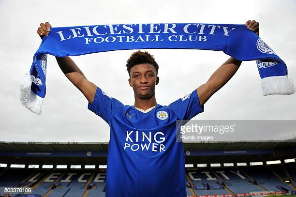 Leicester City unveil new Signing Demarai Gray at King Power Stadium on January 4 2016 in Leicester United Kingdom