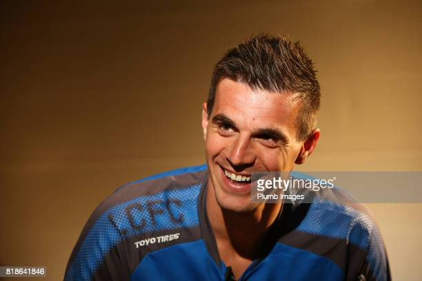 Leicester City unveil new signing Eldin Jakupovic who joins the squad during their preseason tour of Hong Kong on July 18 2017 in Hong Kong Hong Kong