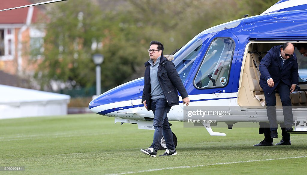 Leicester City Vice Chairman Aiyawatt Srivaddhanaprabha during the Leicester City training session at Belvoir Drive Training Complex on April 29th , 2016 in Leicester, United Kingdom.
