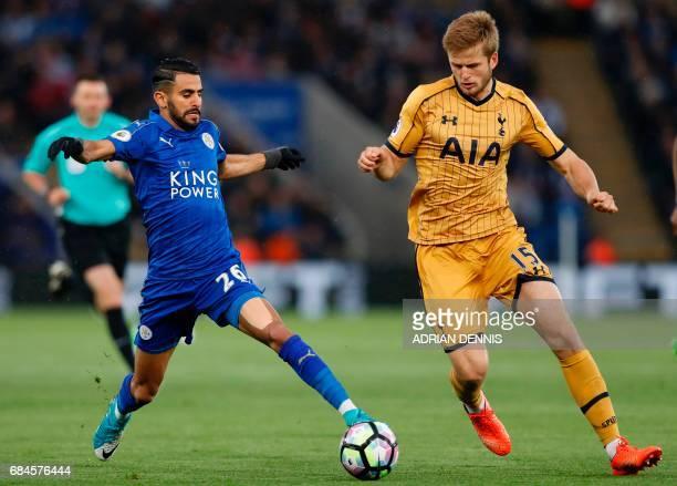 Leicester City's Algerian midfielder Riyad Mahrez vies with Tottenham Hotspur's English defender Eric Dier during the English Premier League football...