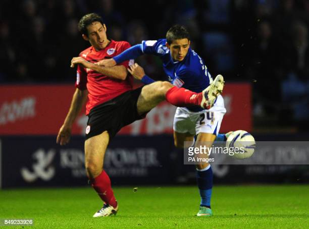 Leicester City's Anthony Knockaert and Cardiff City's Peter Whittingham battle for the ball during the npower Football League Championship match at...