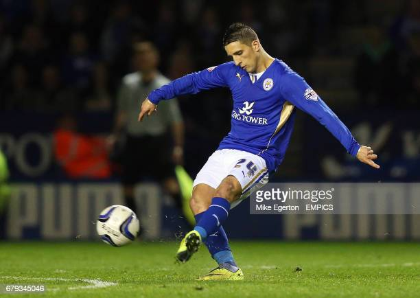 Leicester City's Anthony Knockaert scores their second goal