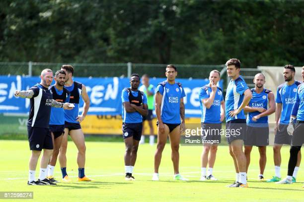 Leicester City's assistant manager Michael Appleton talks to the squad during the Leicester City PreSeason tour of Austria at Velden Training...