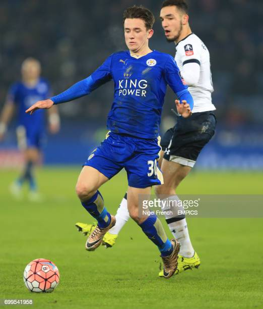 Leicester City's Ben Chilwell and Tottenham Hotspur's Nabil Bentaleb battle for the ball
